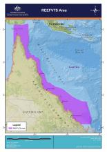 Map of the REEFVTS area in the Great Barrier Reef