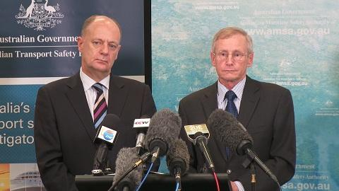 General Manager of AMSA's Emergency Response Division John Young and Australian Transport Safety Bureau Chief Commissioner Martin Dolan give an update on the search for Malaysia Airlines flight MH370
