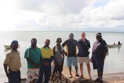 Attendees following a Maritime Safety Workshop at Saibai Island with various stakeholders