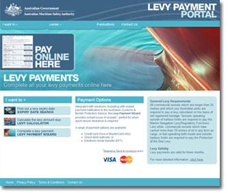 Levy payment portal