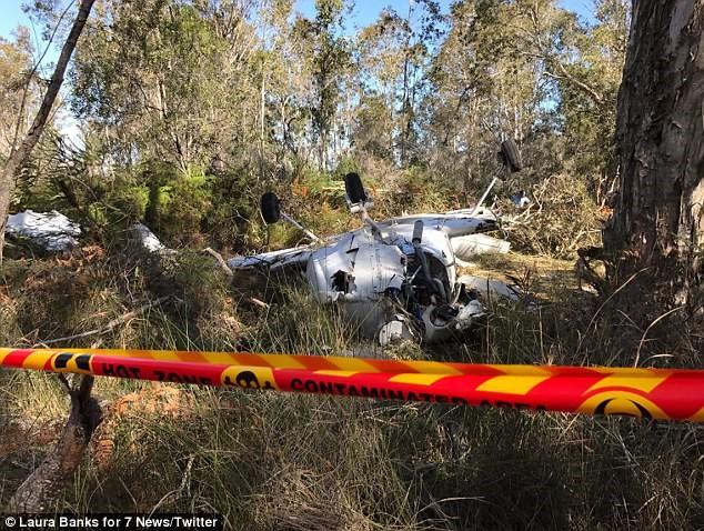 Plane crashed into bushland
