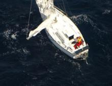 Image of Enya II disabled in heavy seas