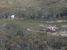 Image of aircraft crash site
