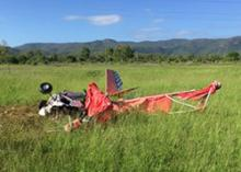 Image of crashed ultralight aircraft