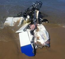 Image of crashed Australian Lightwing aircraft
