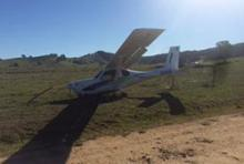 Image of crashed Jabiru aircraft