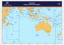 Map of Australia's SAR region