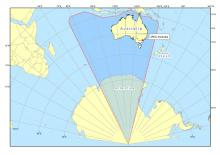 Map of Australia's search and rescue region including Anarctica