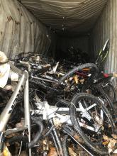 Bikes will be unpacked for waste processing