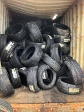 Container full of tyres