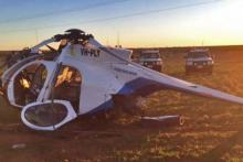Crashed helicopter in Leigh Creek
