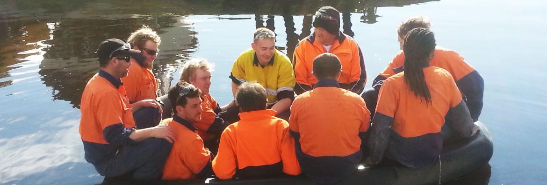 10 men in a boat