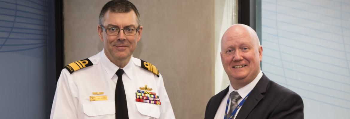 Vice Admiral Ray Griggs AO, CSC and AMSA CEO Mick Kinley