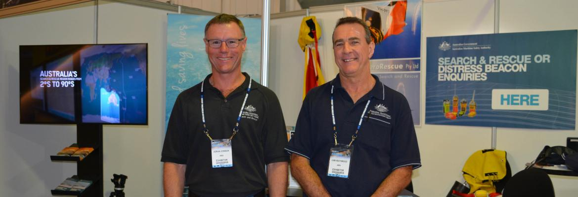 AMSA Search and Rescue Officers manning our stand at the airshow