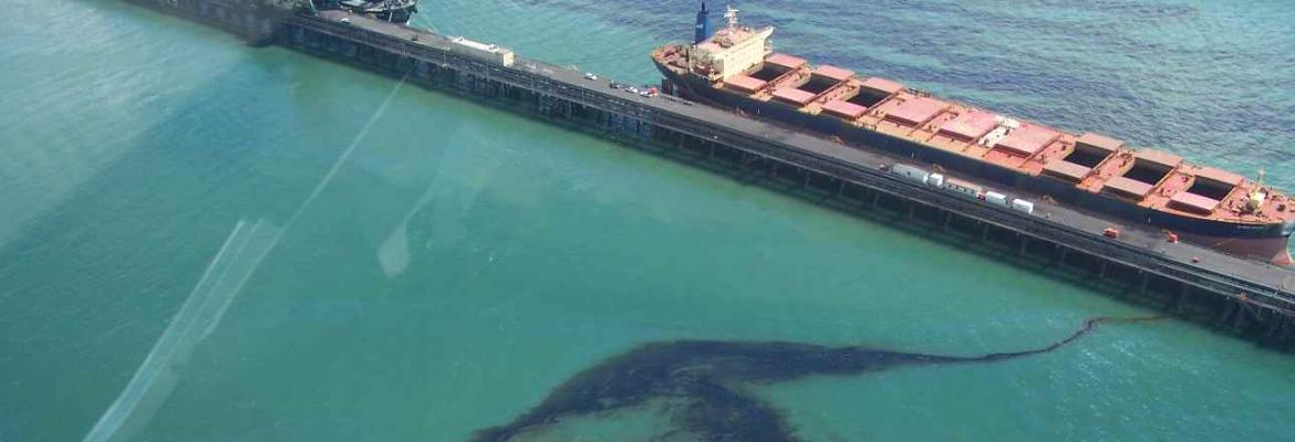 Image of oil slick from Global Peace