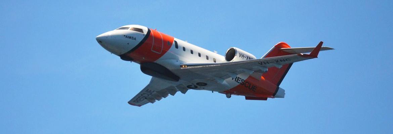 AMSA Challenger CL-604 jet