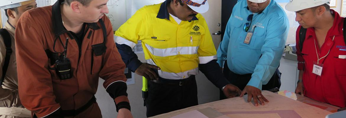 Shipboard inspection training