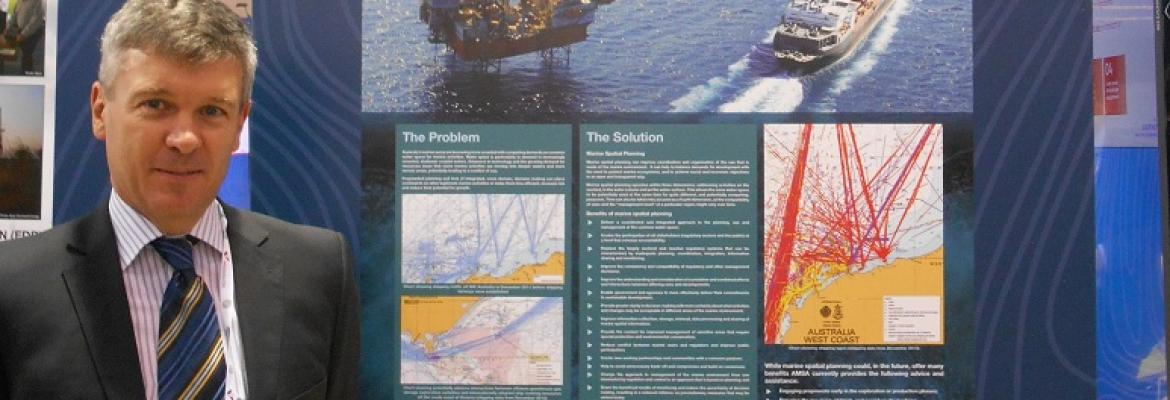 Alec and AMSA's Marine Spatial Planning poster