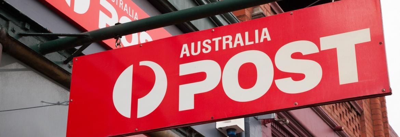 australia post signage