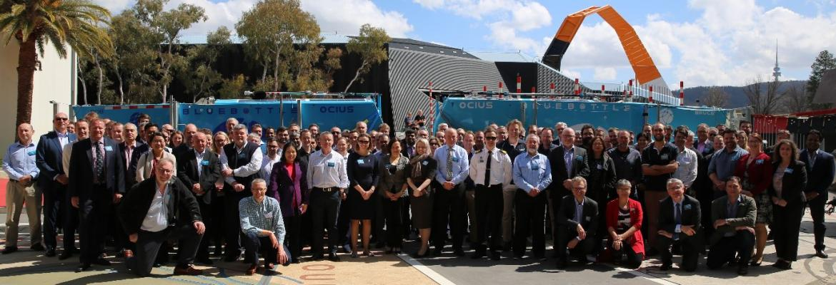 Photo of Autonomous vessel forum speakers and delegates