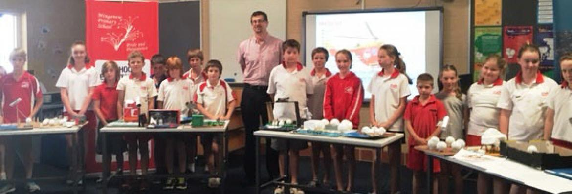 Grades 4, 5 and 6 of Mingenew Public School with their models