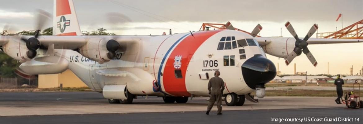 Supplied by the US Coast Guard - Challenger Jet