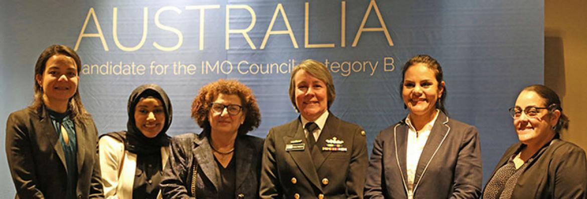 Commodore Fiona Freeman and delegates at a recent AMSA forum