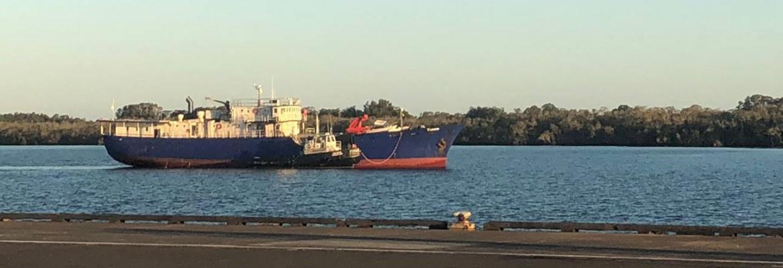 MV Tobin at Yamba New South Wales in June 2018