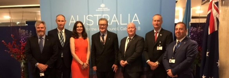 AMSA attendees at International Maritime Organization council