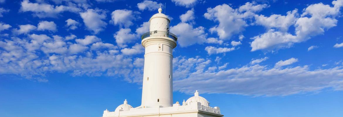 Macquarie lighthouse on an angle