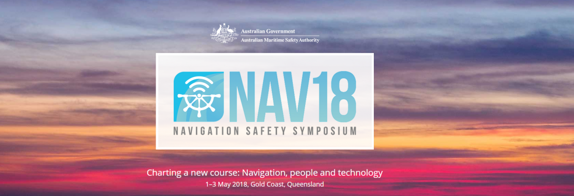 NAV18 home page with the NAV18 logo and a picture of a sunset over the ocean