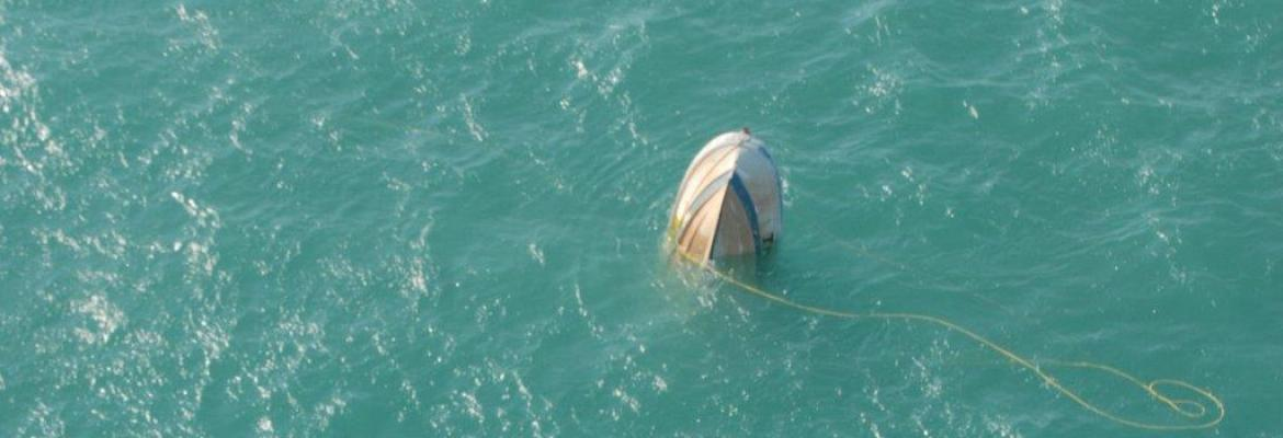 Divers find their vessel semi submerged 41 km North East of Darwin