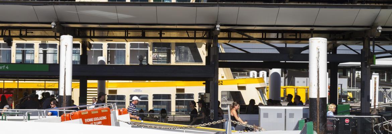 Sydney harbour ferry passengers
