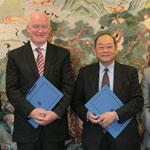 The Australian Maritime Safety Authority's previous Chief Executive Officer, Mr Graham Peachey and Director of the IMO's Technical Cooperation Division, Mr Jianxin Zhu