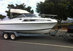 Image of recreational cabin cruiser, Kangaroo Island, South Australia