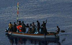 Image of the missing Papua New Guinean banana boat located by the RAAF