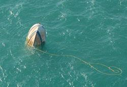 Image of FV Osprey semi-submerged
