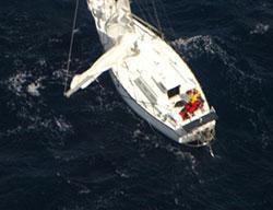 Image of Enya II disabled in heavy seas