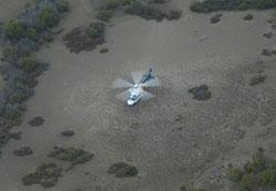 Image of rescue helicopter