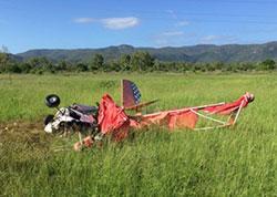 Image of crashed ultralight aircraft