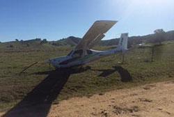 Image of crashed Jabiru aircraft