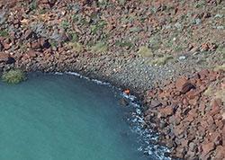 Image of debris from FV Returner, Burrup Peninsula, WA