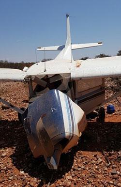 Image of aircraft crash - Cessna 172, Landor, WA