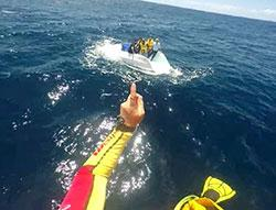 Image of overturned vessel, Batemans Bay, NSW