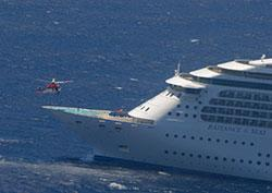 Image showing medical evacuation from MV Radiance of the Seas