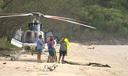 Image of crashed helicopter search, Cape Tribulation, Queensland