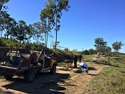 Image showing rescuers on location at site of beacon activation, Teenbura property, Queensland