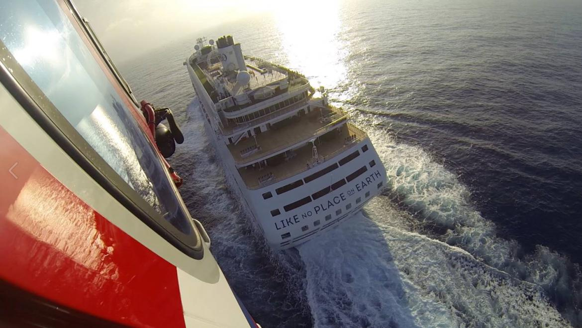 P&O cruiseliner from the helicopter