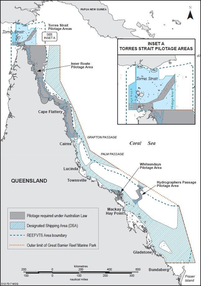 coastal pilotage map