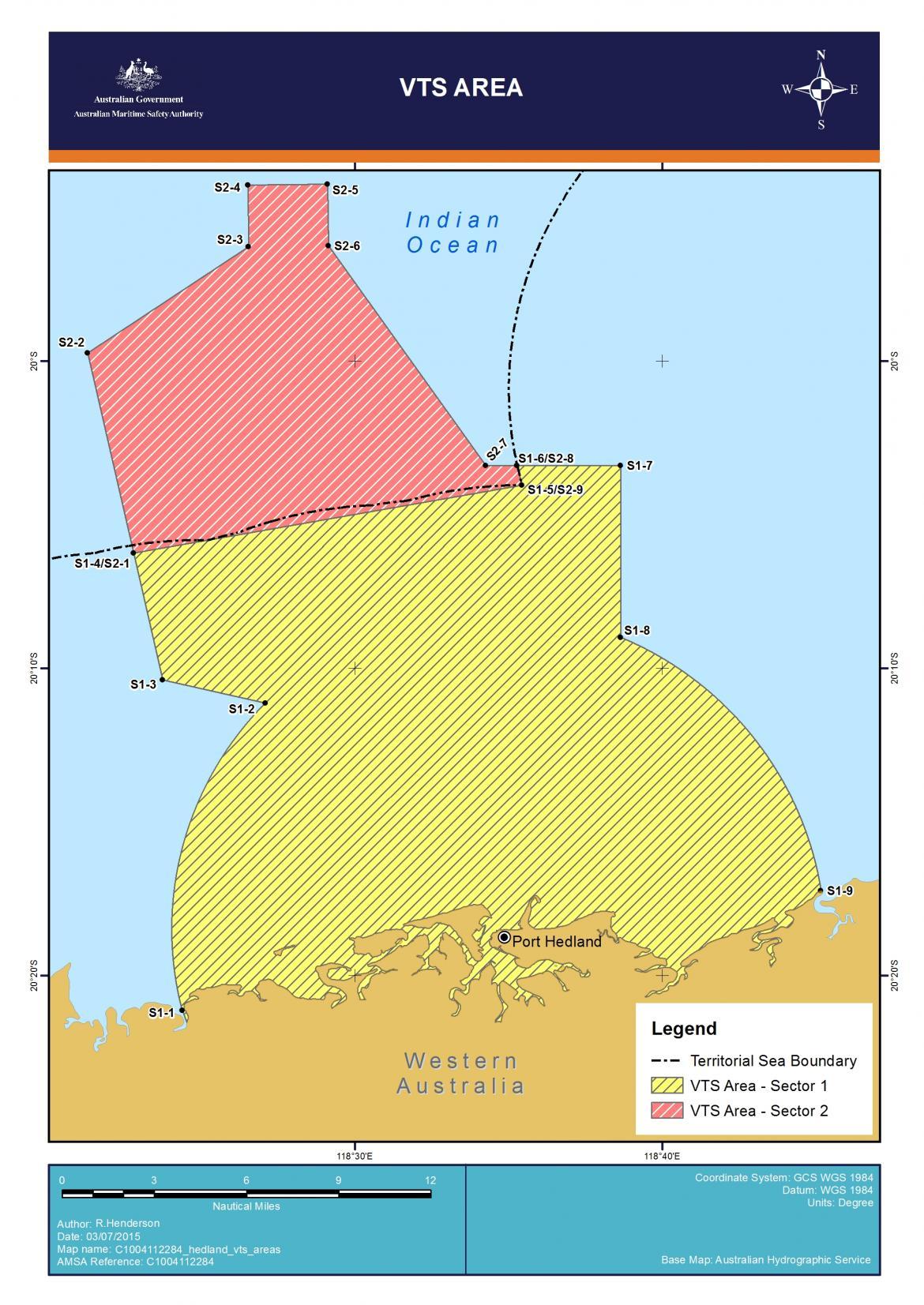 Port Hedland VTS chart 1